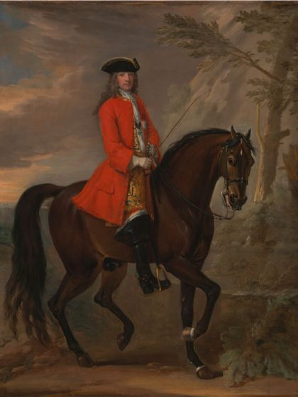 Wootton, John: Portrait of a Man on Horseback. Fine Art Print/Poster (4791)
